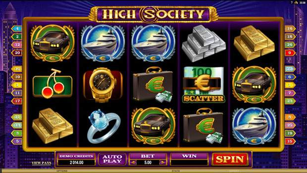High Society Free Slots Review 3