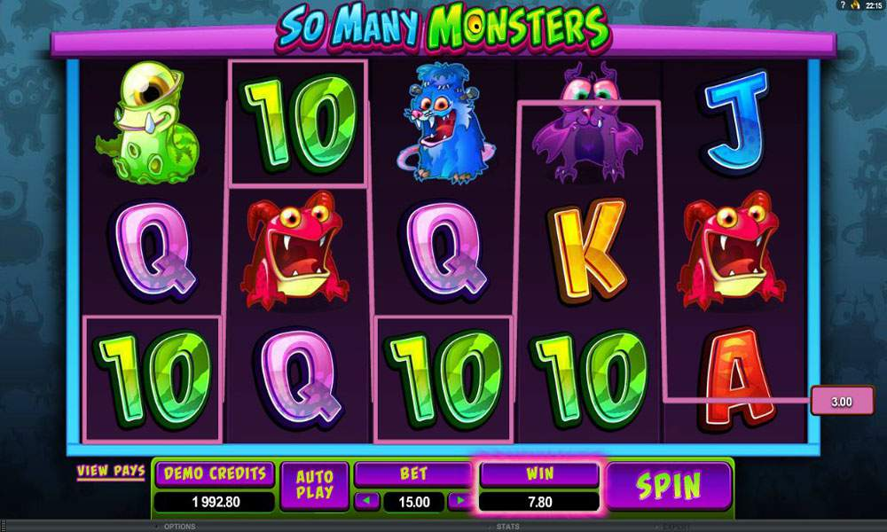 So Many Monsters in one slot game! | Euro Palace Casino Blog
